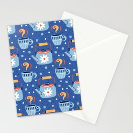 Farmhouse Teapots in Blue Stationery Cards