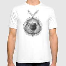 Spirobling XXII MEDIUM White Mens Fitted Tee