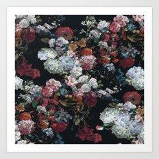 FLOWERS FLOWERS FLOWERS ... JUST FLOWERS (FLORAL) Art Print