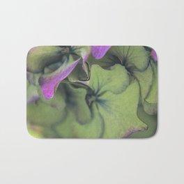 green hydrangea Bath Mat