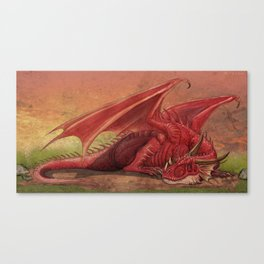 Sleeping red dragon Canvas Print