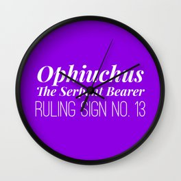 Ophiuchus the Serpent Bearer Wall Clock