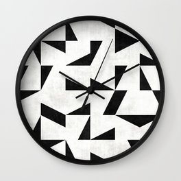 Mid-Century Modern Pattern No.11 - Black and White Wall Clock