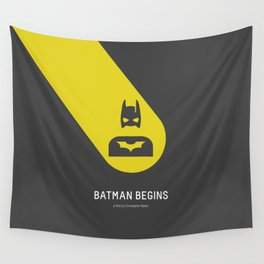 Flat Christopher Nolan movie poster Wall Tapestry