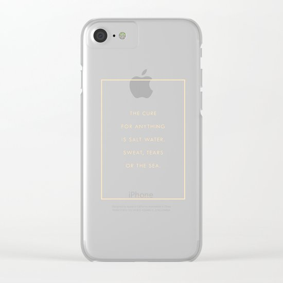 Salt Water Clear iPhone Case