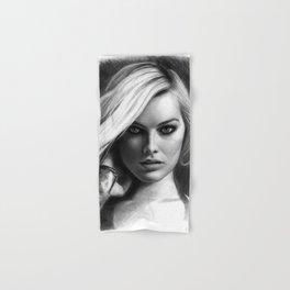 Margot Robbie Pencil Sketch Hand & Bath Towel