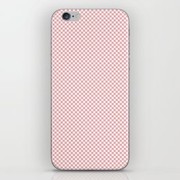 Light Pink Mellow Rose and White Mini Check 2018 Color Trends iPhone Skin