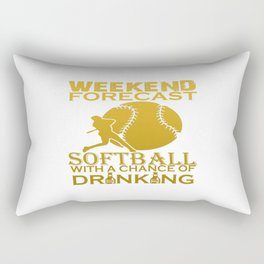 WEEKEND FORECAST SOFTBALL Rectangular Pillow