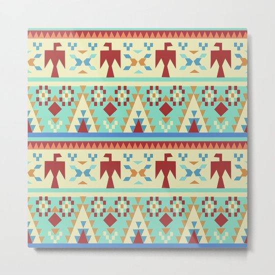 American Native Pattern No. 34 Metal Print