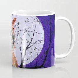 Owl, Owl Painting, Moon, Night Sky, Purple, by Faye Coffee Mug