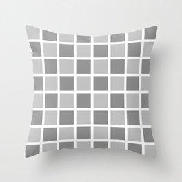 Modern Checkers (gray tiles) Throw Pillow