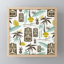 Island Tiki - White Framed Mini Art Print