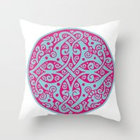 persian Throw Pillows featuring Persian circle by Osgarr