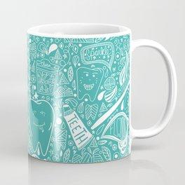 Happy Doodle Teeth Coffee Mug