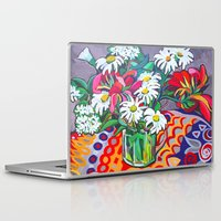 daisies Laptop & iPad Skins featuring Daisies by marlene holdsworth
