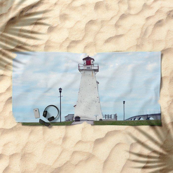 Marine Rail Park Range Light Beach Towel