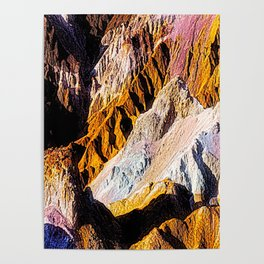Artist Palette in California's Death Valley National Park. Poster