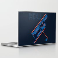60s Laptop & iPad Skins featuring Raleigh-Durham (RDU) - 60s by Kyle Rodgers
