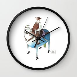 Numero 8 -Cosi che cavalcano Cose - Things that ride Things- SERIE ARGENTO - SILVER SERIES Wall Clock