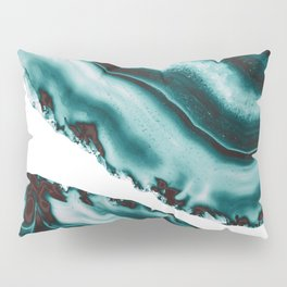 Turquoise Brown Agate #1 #gem #decor #art #society6 Pillow Sham