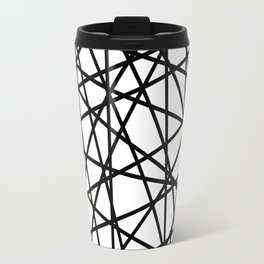 Lazer Dance Black on White Travel Mug