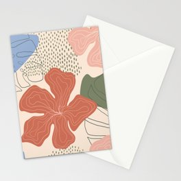Exotic Tropical Plants and Flower Hand drawn Stationery Cards