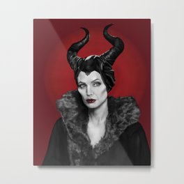 Maleficent Metal Print