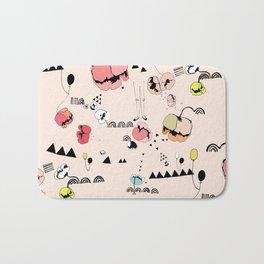 Poppies Print Bath Mat