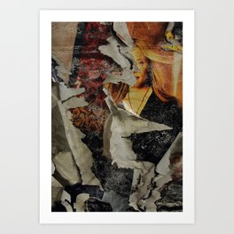 Peeling: Blonde Woman Art Print