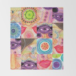 vibrant playful rhythm Throw Blanket
