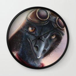 Queen Bess Emu Wall Clock