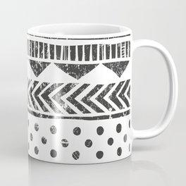 Mayan Pattern - Seamless tribal texture. Primitive geometric background in grunge style illustration Coffee Mug