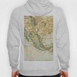 North America Vintage Encyclopedia Map Hoody