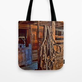 Draft Horse Harness Tote Bag