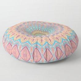 Jewel Mandala Faded - Mandala Design Floor Pillow