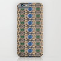 Blue Rose geometric pattern cellphone case by photosbyhealy