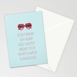 DON'T BREAK MY HEART Stationery Cards