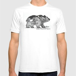 """Wander Bear"" Hand-Drawn by Dark Mountain Arts T-shirt"