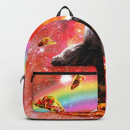 Space Owl Riding Turtle Unicorn - Pizza & Taco Backpack