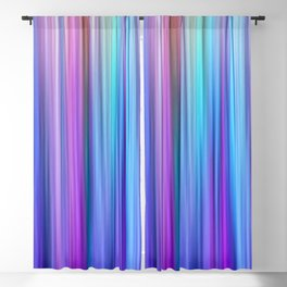 Abstract Purple and Teal Gradient Stripes Pattern Blackout Curtain