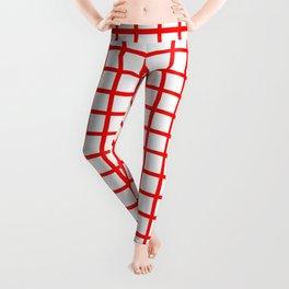 Grid (Classic Red & White Pattern) Leggings