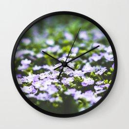 Veronica flowers Wall Clock