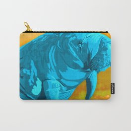 Painted Manatee artwork Carry-All Pouch