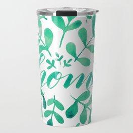 Watercolor home foliage - green Travel Mug
