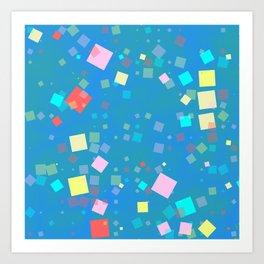 Squares mosaic Art Print