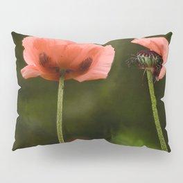 Couple Pink Oriental Poppies Pillow Sham