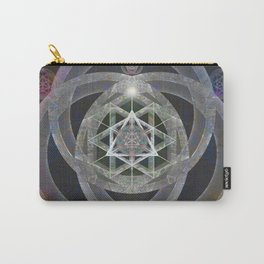 Spectrum Flow Merkaba Sacred Geometry Meditation Tapestry Print Carry-All Pouch