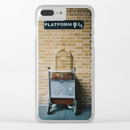 Platform 9.3/4 Clear iPhone Case