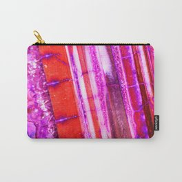 Candy Striped Red & Purple Quartz Carry-All Pouch
