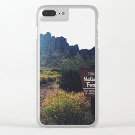Tonto National Forest, Arizona Clear iPhone Case